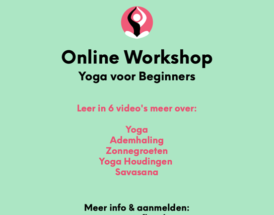 Online Workshop Yoga voor beginners